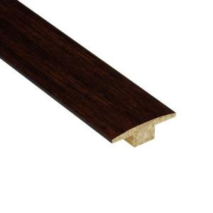 Home Legend Strand Woven Walnut 7/16 in. Thick x 2 in. Wide x 47 in. Length Bamboo T-Molding
