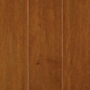 Mohawk Light Amber Maple 3/8 in. x 5.25 in. x Random Length Soft Scraped UNICLIC Hardwood Flooring (22.5 sq. ft. / case)