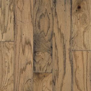 Bruce Distressed Oak Toast Engineered Hardwood Flooring - 5 in. x 7 in. Take Home Sample