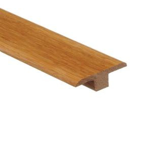 Zamma Strand Woven Bamboo Natural 3/8 in. Thick x 1-3/4 in. Wide x 94 in. Length Wood T-Molding