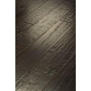 Shaw 3/8 x 3 1/4 in. Hand Scraped Western Hickory Leather Engineered Hardwood