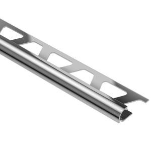 Schluter Rondec 5/16 in. x 8 ft. Polished Chrome Anodized Aluminum Rounded-Edge Edge Protection Trim