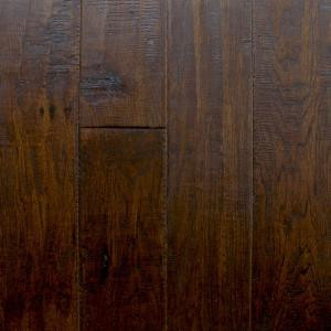 Millstead Hickory Chestnut 3/8 in. Thick x 4-3/4 in. x Random Length Click Hardwood Flooring (22.5 sq. ft. / case)