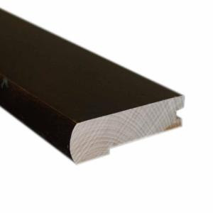 Millstead 2.75 in. Wide x 78 in. Length Handscrape Maple Chocolate Solid Flush-Mount Stair Nose Molding