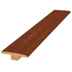 Mohawk Hickory Autumn 9/16 in. Thick x 2 in. Wide x 84 in. Length Hardwood T-Molding