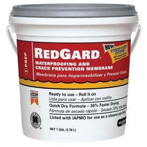 Custom Building Products RedGard Waterproofing and Crack Prevention Membrane 1 Gal.
