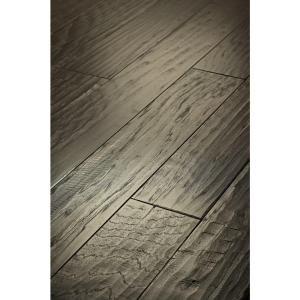 Shaw 3/8 x 5 in. Hand Scraped Western Hickory Slate Engineered Hardwood