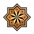 PID Floors Star Medallion Unfinished Decorative Wood Floor Inlay MS003 - 5 in. x 3 in. Take Home Sample