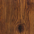 Hampton Bay Hand Scraped Oak Burnt Caramel Laminate Flooring- 5 in. x 7 in. Take Home Sample