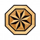 PID Floors Octagon Medallion Unfinished Decorative Wood Floor Inlay MT003 - 5 in. x 3 in. Take Home Sample