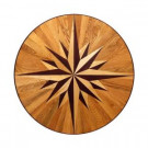 PID Floors Round Medallion Unfinished Decorative Wood Floor Inlay MC011 - 5 in. x 3 in. Take Home Sample