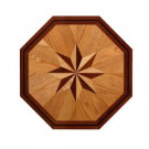PID Floors Octagon Medallion Unfinished Decorative Wood Floor Inlay MT002 - 5 in. x 3 in. Take Home Sample