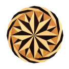PID Floors Round Medallion Unfinished Decorative Wood Floor Inlay MC001 - 5 in. x 3 in. Take Home Sample