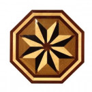 PID Floors Octagon Medallion Unfinished Decorative Wood Floor Inlay MT004 - 5 in. x 3 in. Take Home Sample