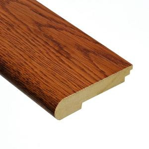 Home Legend Oak Gunstock 3/8 in. Thick x 3-1/2 in. Wide x 78 in. Length Hardwood Stair Nose Molding