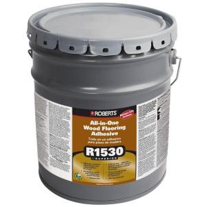 Roberts 1530 4-Gal. All-In-One Wood Flooring Urethane Adhesive and Moisture-Sound Barrier
