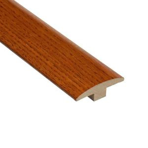 Home Legend High Gloss Oak Gunstock 3/8 in. Thick x 2 in. Wide x 78 in. Length Hardwood T-Molding