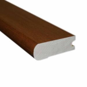 Millstead Handscraped Maple Spice/Nutmeg .81 in. Thick x 2-3/4 in. Wide x 78 in. Length Hardwood Flush-Mount Stair Nose Molding