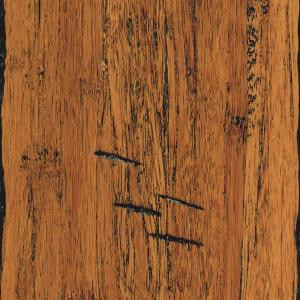 Home Legend Hand Scraped Strand Woven Antiqued 3/8 in. Thick x 5-1/8 in. Wide x 36 in. Length Click Lock Bamboo Flooring