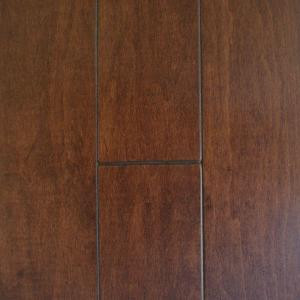 Millstead Maple Cacao 3/8 in. Thick x 4-3/4 in. Wide x Random Length Engineered Click Real Hardwood Flooring (33 sq. ft. / case)