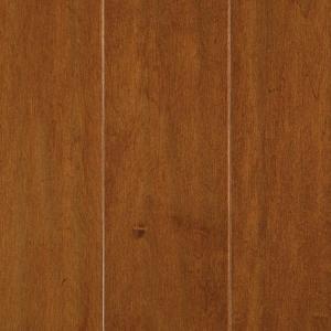 Mohawk Light Amber Maple 3/8 in. x 5.25 in. x Random Length Soft Scraped UNICLIC Hardwood Flooring (22.5 sq. ft. / case)