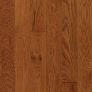 Mohawk Oak Gunstock Engineered Click Hardwood Flooring - 5 in. x 7 in. Take Home Sample
