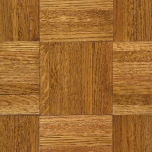Bruce Oak Honey Parquet 5/16 in. x 12 in. x 12 in. Wide Length Hardwood Flooring (25 sq. ft./case)