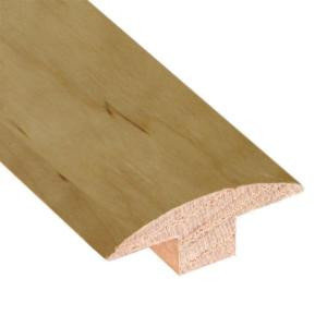 Millstead Natural 3/4 in. Thick x 3/4 in. Thick x 2 in. Wide x 78 in. Length Hardwood T-Molding