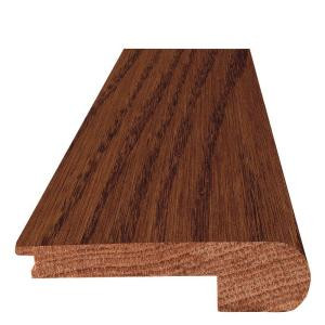 Mohawk 7 ft. x 3 in. x 3/4 in. Oak Cherry Stair Nose Moulding