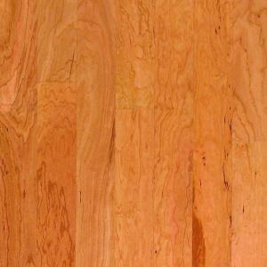Millstead American Cherry Natural 3/8 in. x 4-1/4 in. Wide x Random Length Engineered Click Hardwood Flooring (20 sq. ft. / case)