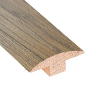 Millstead Hickory Sepia 3/4 in. Thick x 2 in. Wide x 78 in. Length Hardwood T-Molding