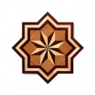 PID Floors Star Medallion Unfinished Decorative Wood Floor Inlay MS001 - 5 in. x 3 in. Take Home Sample