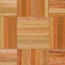 Armstrong Bruce American Home Natural Oak Parquet Hardwood Flooring - 5 in. x 7 in. Take Home Sample