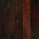 Millstead Hand Scraped Maple Chocolate Solid Hardwood Flooring - 5 in. x 7 in. Take Home Sample